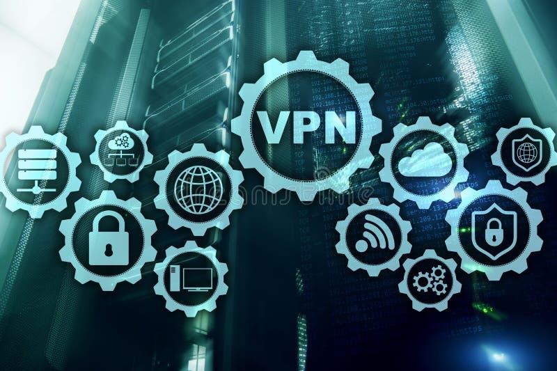 安全VPN连接 虚拟专用网络或互联网安全概念 皇族释放例证