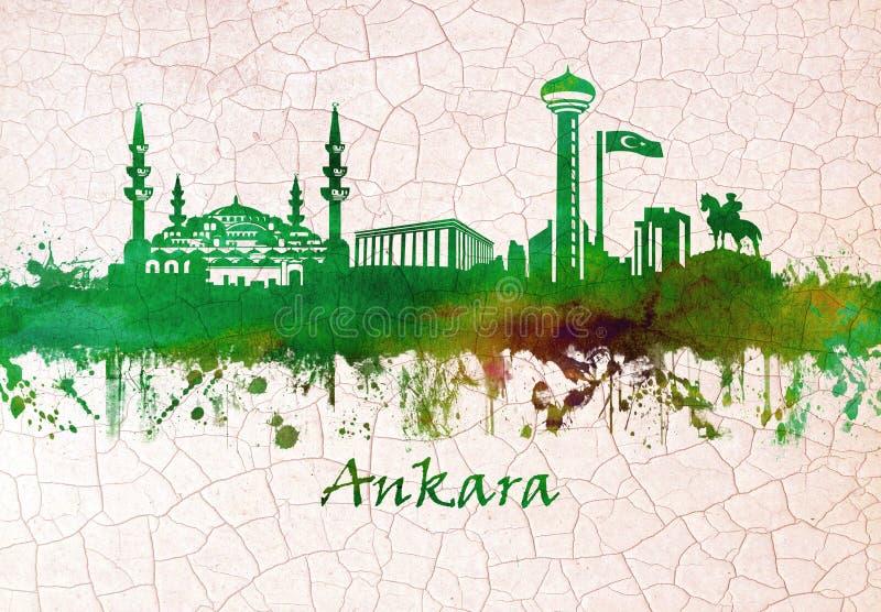 安卡拉土耳其地平线 皇族释放例证