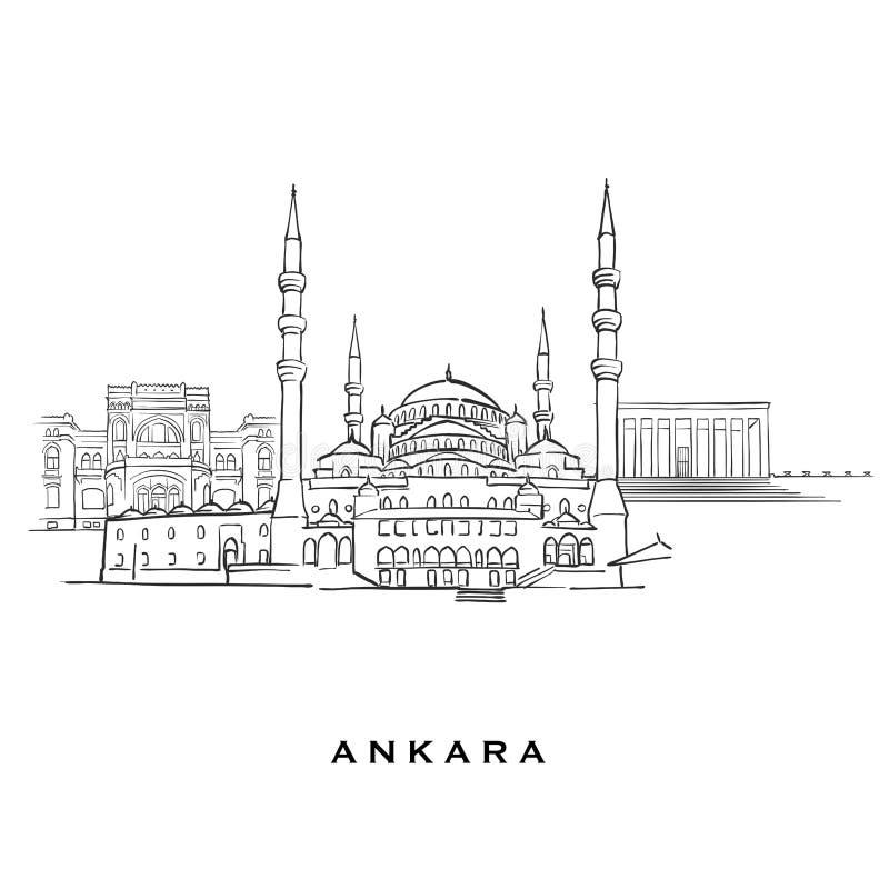 安卡拉土耳其著名建筑学 库存例证
