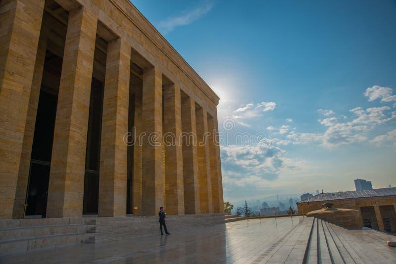 安卡拉,土耳其:Anitkabir是土耳其共和国,穆斯塔法・凯末尔・阿塔蒂尔克的创建者的陵墓 库存图片