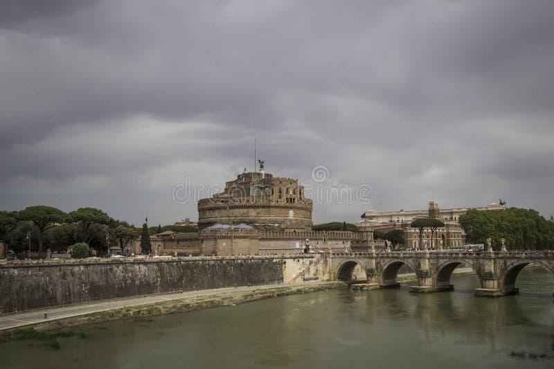 安吉洛castel意大利sant的罗马 免版税库存照片