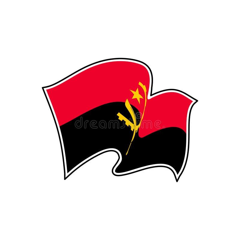 安哥拉国旗 r 罗安达 皇族释放例证