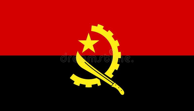 安哥拉在平的样式的旗子象 r r 皇族释放例证