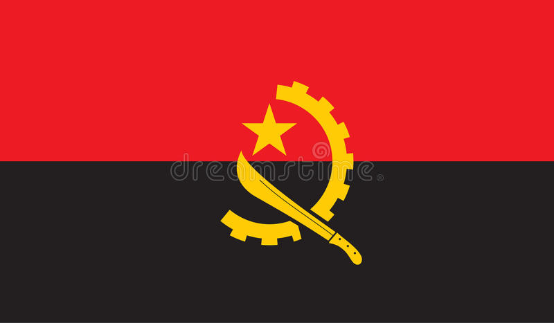 安哥拉旗子图象 向量例证