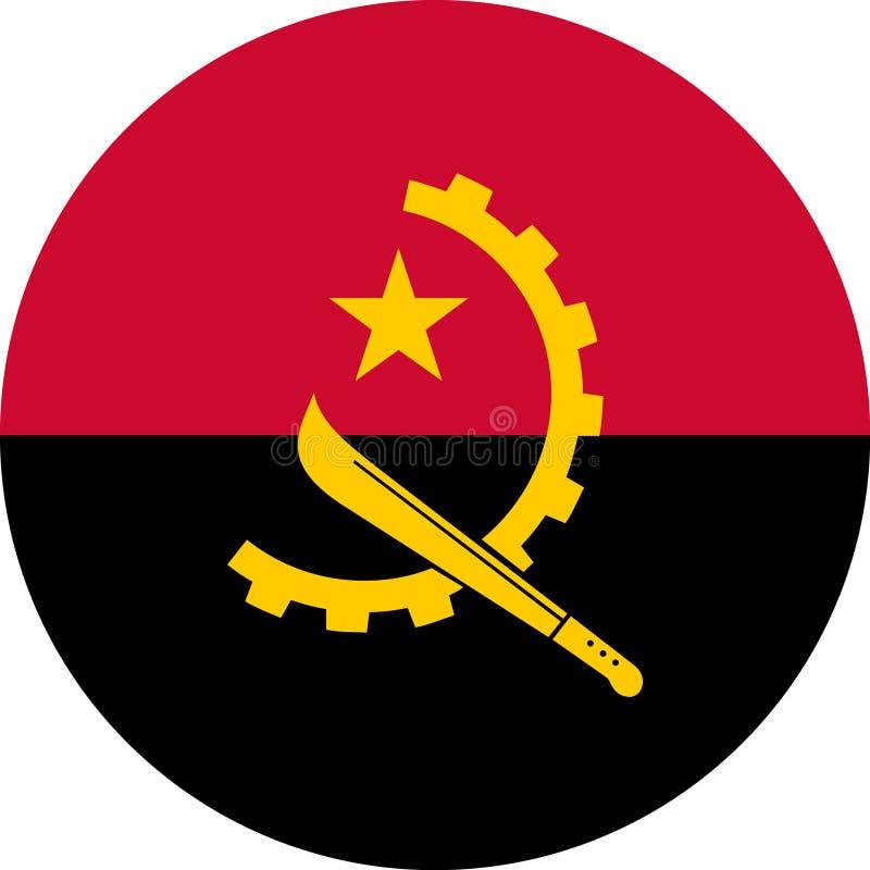 安哥拉旗子非洲例证传染媒介eps 向量例证