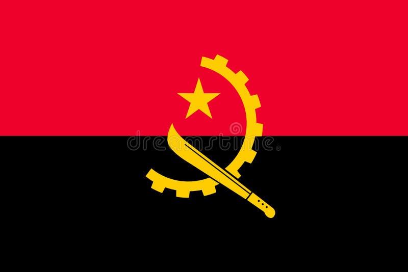 安哥拉的传染媒介旗子 向量例证