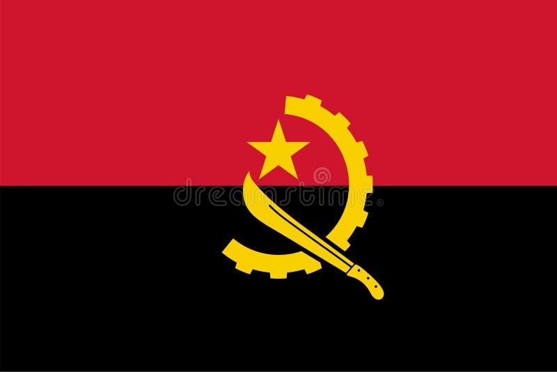 安哥拉的传染媒介旗子 比例2:3 安哥拉国旗 安哥拉共和国 向量例证