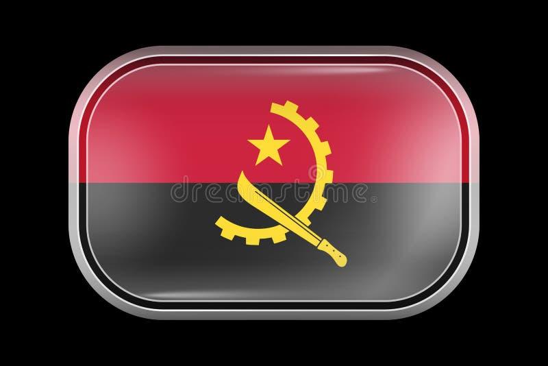 安哥拉的旗子 有席子的传染媒介象 传染媒介长方形形状 向量例证