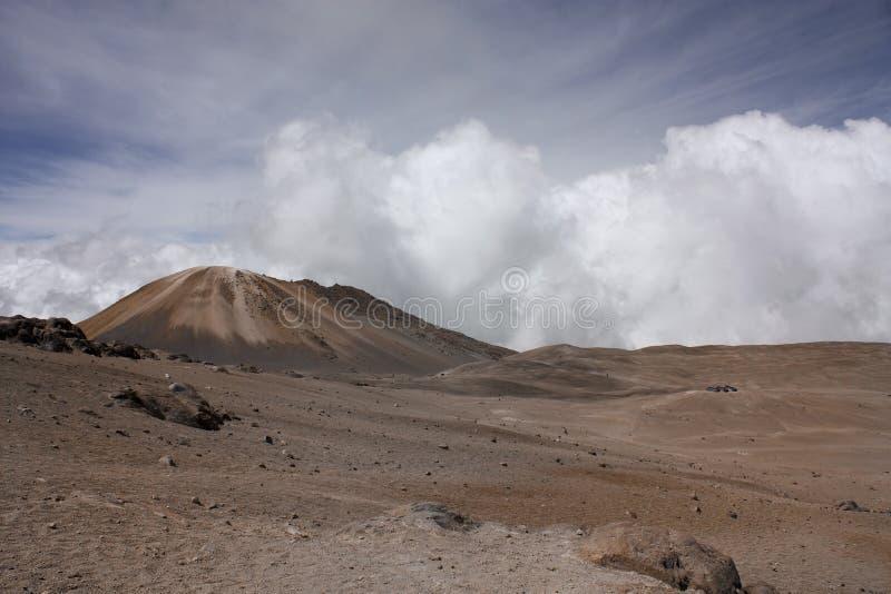 安地斯山的横向停泊火山 免版税库存图片