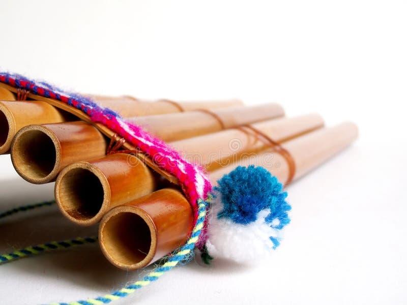 安地斯山的长笛 免版税库存照片