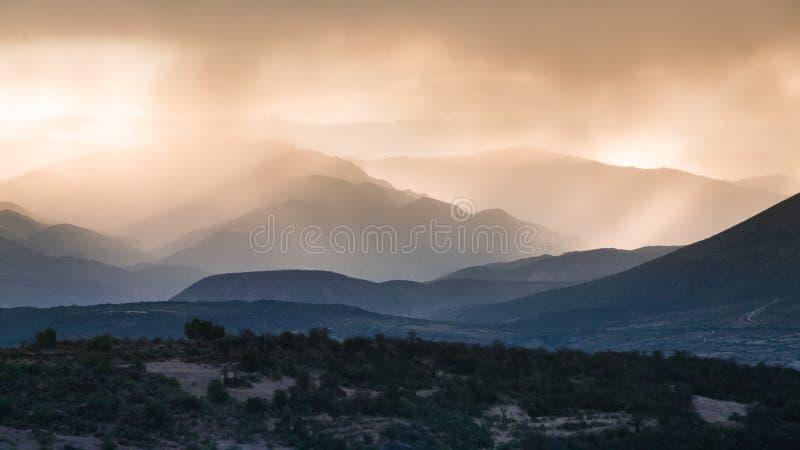安地斯山的风景在秘鲁 库存图片