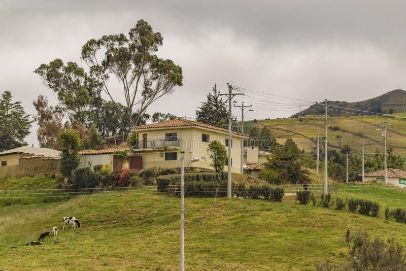 安地斯山的风景Azuay厄瓜多尔 库存图片