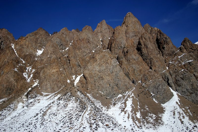 安地斯峰顶 图库摄影