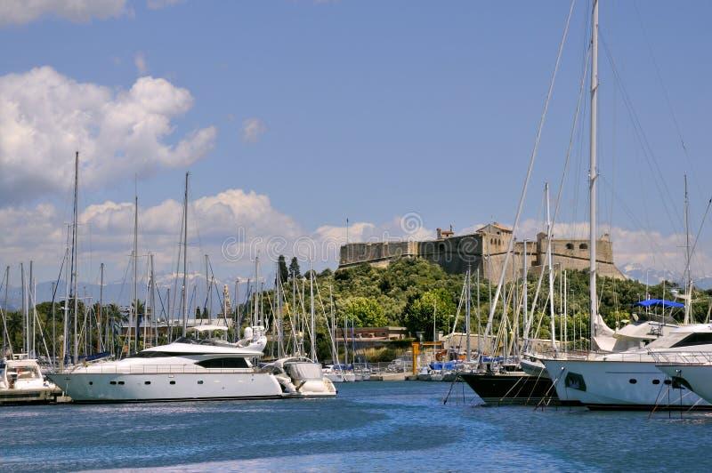 安地比斯法国端口 免版税图库摄影
