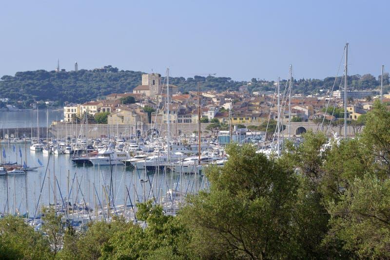 安地比斯法国端口 库存照片