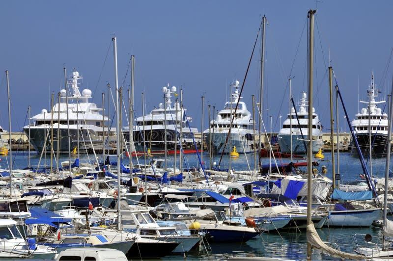 安地比斯港在法国 库存照片