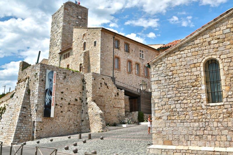 安地比斯,法国- 2014年6月16日:毕加索博物馆 免版税库存照片