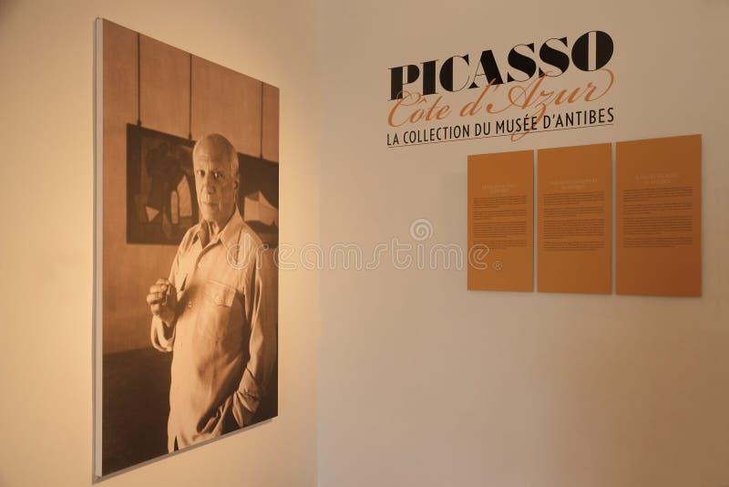 安地比斯,法国- 2014年8月30日:巴勃罗・毕卡索博物馆盘区  库存图片