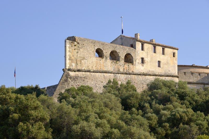 安地比斯carr堡垒法国 免版税库存图片
