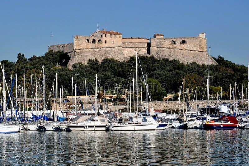 安地比斯carre堡垒法国海滨 库存图片