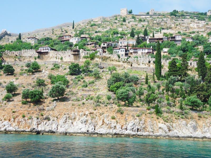 安塔利亚海岸的城市  免版税库存图片