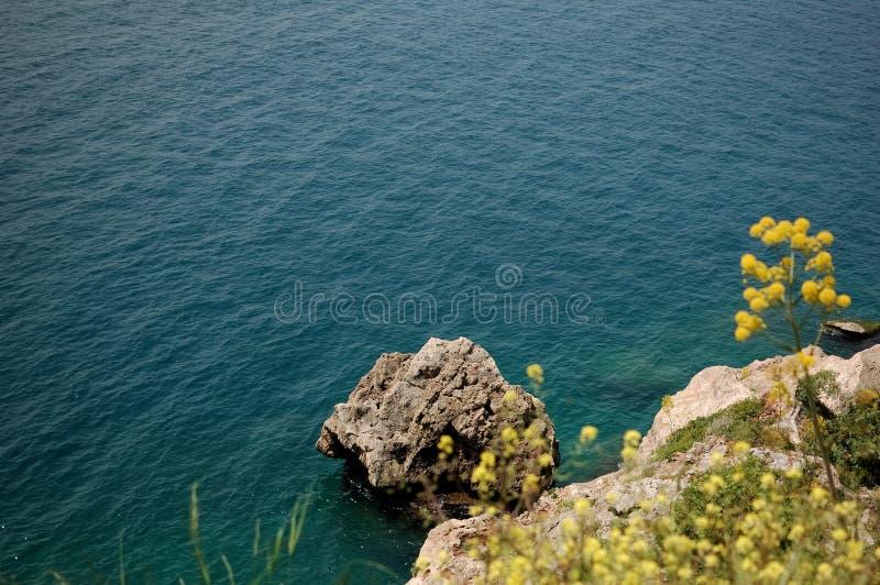 安塔利亚海岸视图 免版税库存图片