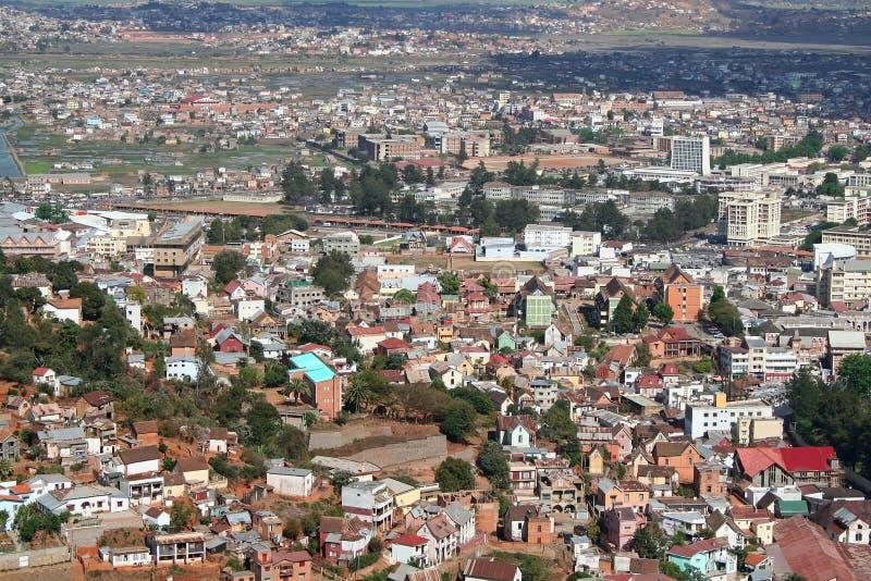 安塔那那利佛资本马达加斯加视图 免版税库存照片