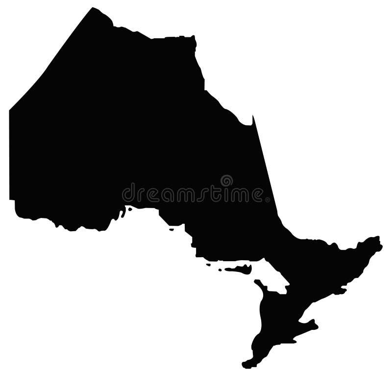 安大略地图-省在位于东部中心位置的加拿大 向量例证