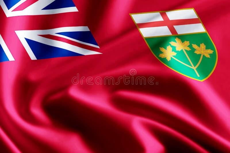 安大略旗子例证 库存例证