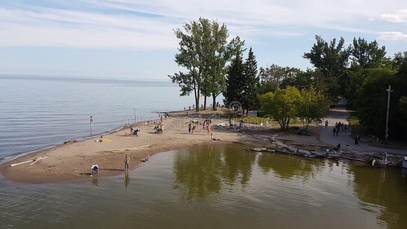 安大略湖海滩& x28; Scarborough& x29; 免版税库存图片