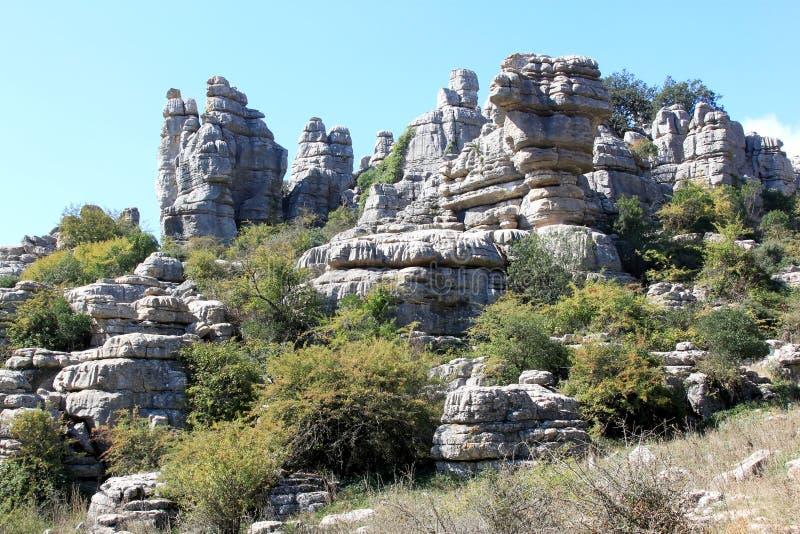 安大路西亚el天然公园预留torcal的西班牙 免版税库存照片