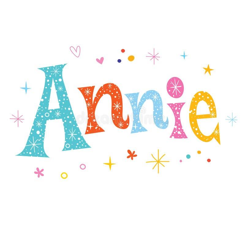 安妮女孩名字 向量例证