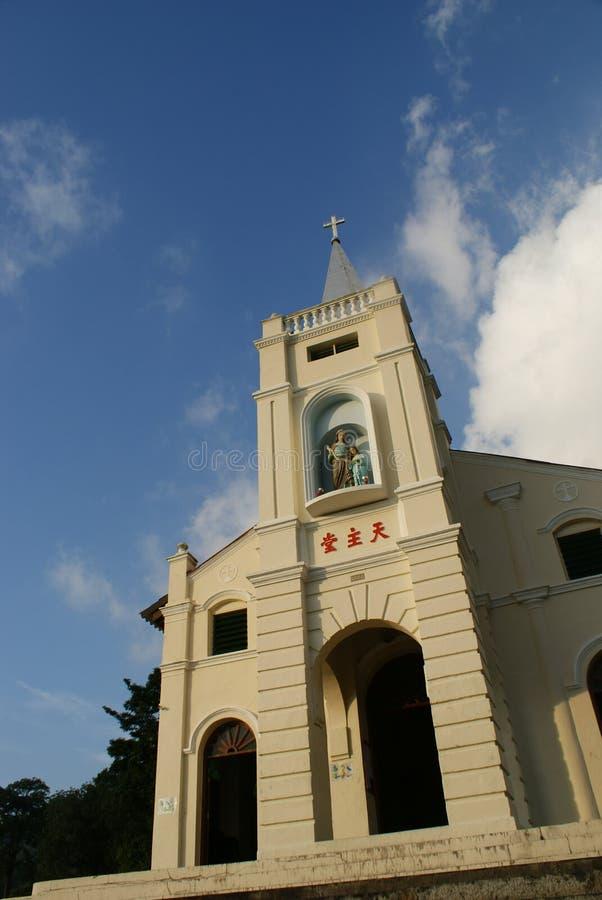 安妮教会马来西亚槟榔岛s st 免版税库存照片