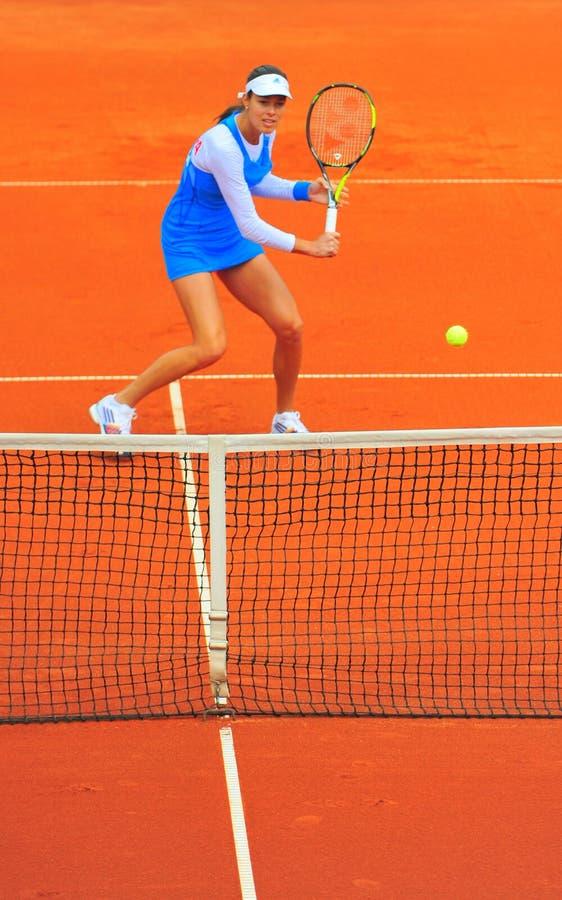 安娜・伊万诺维奇网球员 免版税库存照片