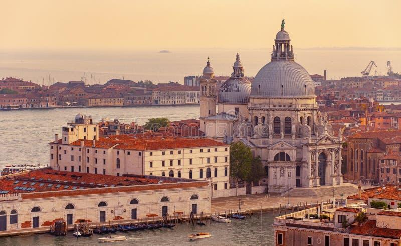 安康圣母圣殿大教堂在威尼斯,意大利 免版税库存图片