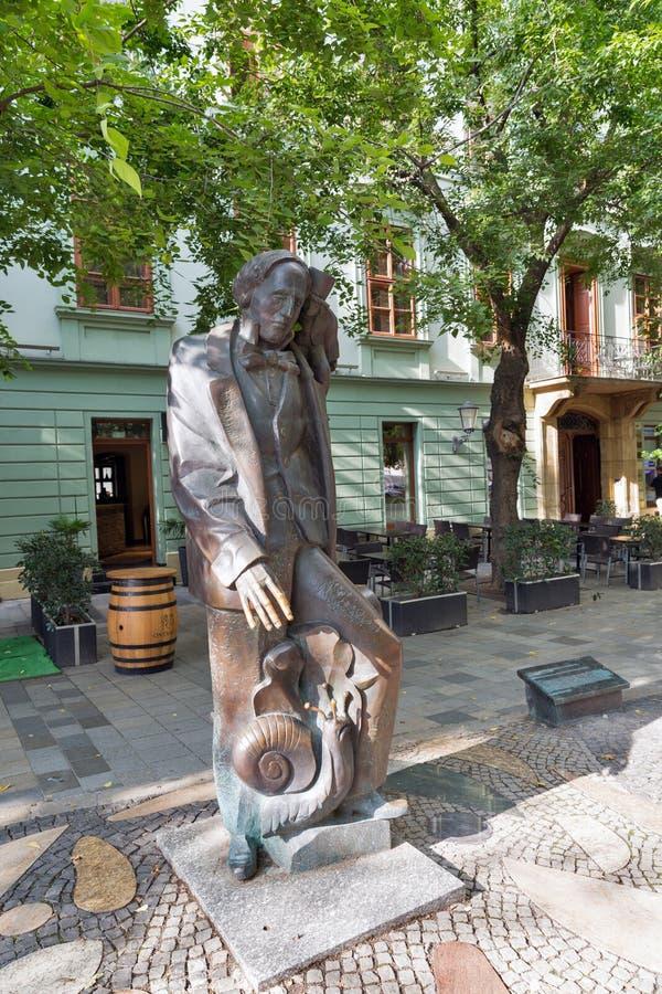 安徒生雕象在布拉索夫,斯洛伐克 免版税库存图片