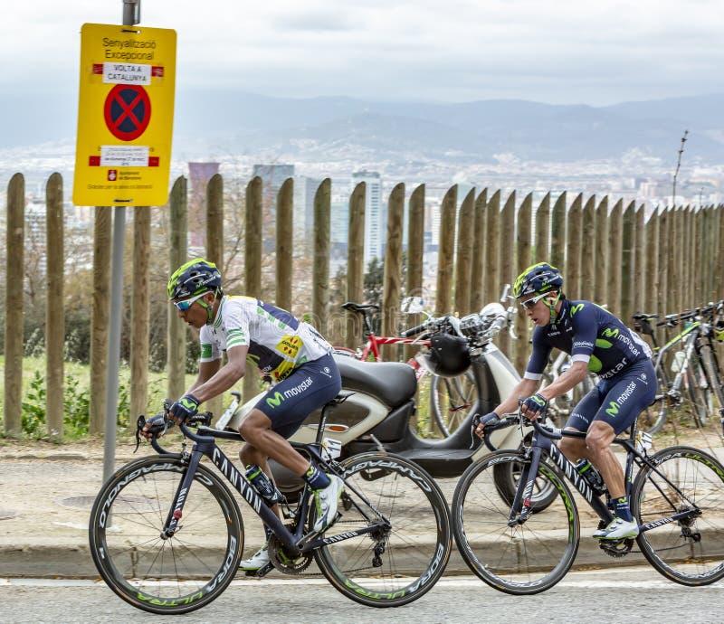 安德烈斯兄弟-伏打Ciclista Catalunya 2016年 免版税库存照片