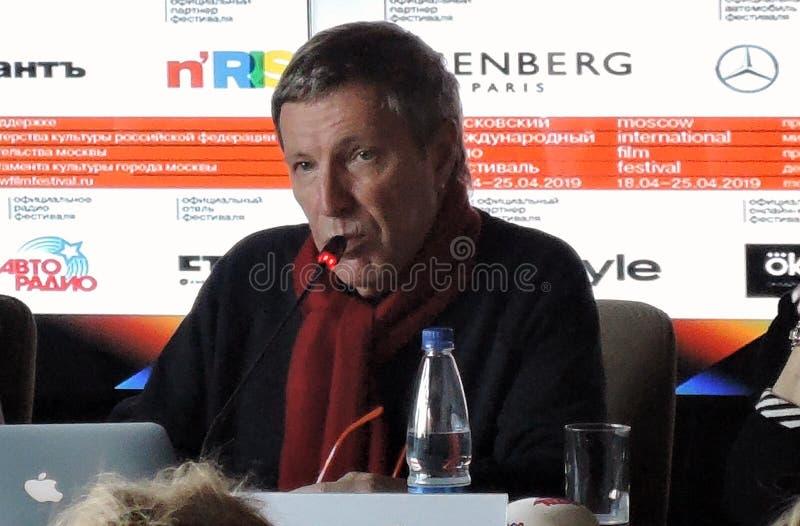 安德烈Plakhov在第41莫斯科国际影片竞赛第一个正式新闻会议  免版税库存照片