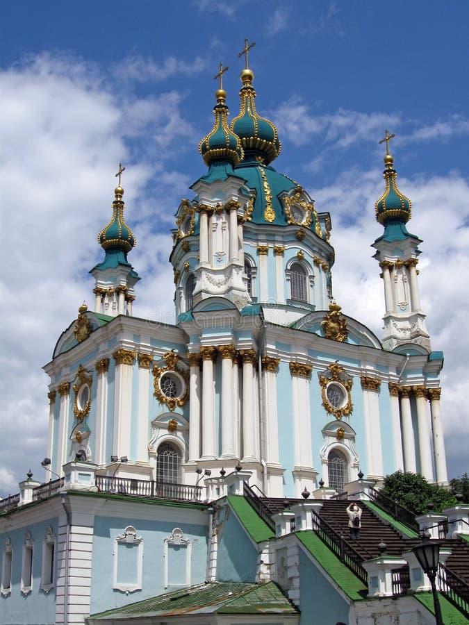 安德鲁教会基辅圣徒乌克兰 库存图片