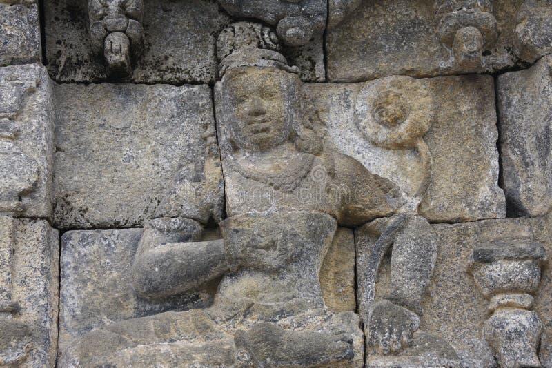 安心婆罗浮屠寺庙 库存照片