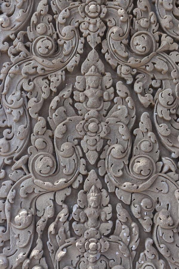 安心细节在吴哥窟破坏n柬埔寨 库存图片