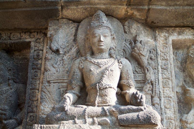 安心细节在prambanan寺庙的 免版税库存图片