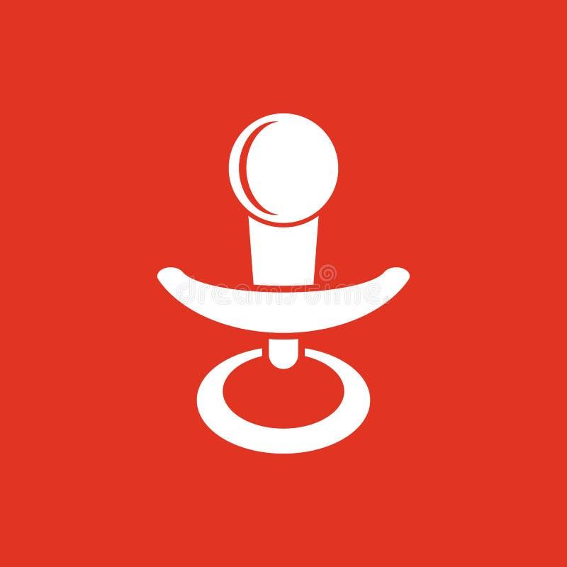 安慰者象 橡皮奶嘴传染媒介设计 小钝汉,安慰者标志 网 图象 JPG ai 阿帕卢萨马 徽标 对象 平面 皇族释放例证