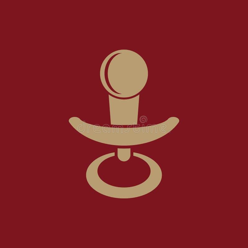 安慰者象 橡皮奶嘴传染媒介设计 小钝汉,安慰者标志 网 图象 JPG ai 阿帕卢萨马 徽标 对象 平面 库存例证