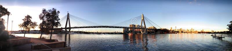 安扎克桥梁日落 库存图片