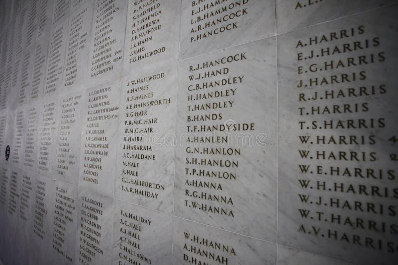 安扎克纪念品墙壁 库存照片
