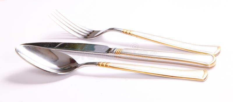 安排用餐工具 免版税库存图片