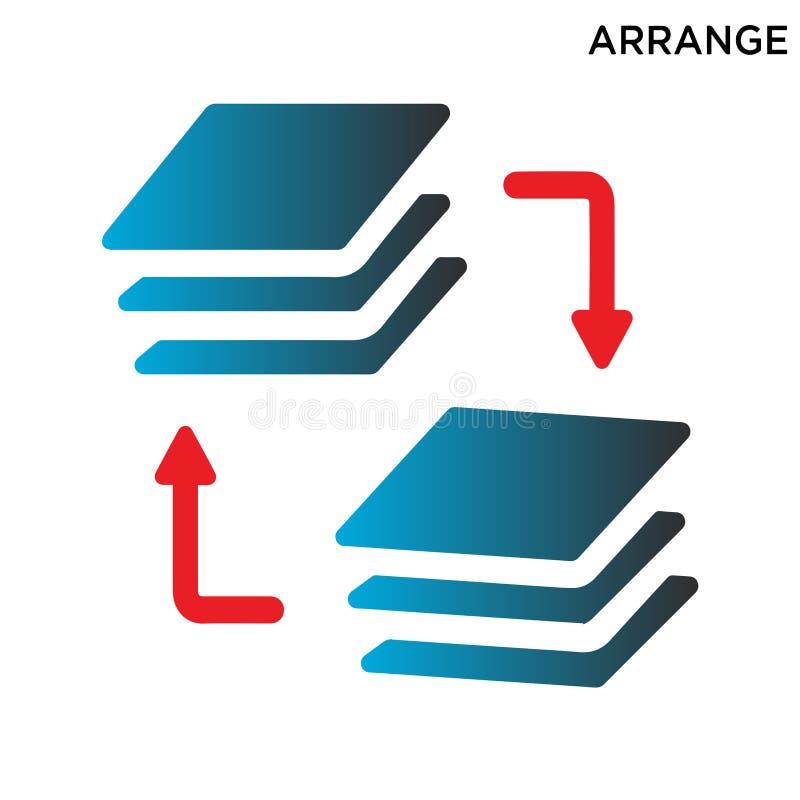 安排象在白色背景隔绝的标志设计 向量例证