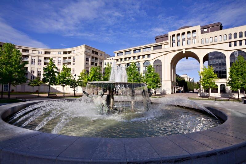安提歌尼喷泉法国蒙彼利埃 图库摄影