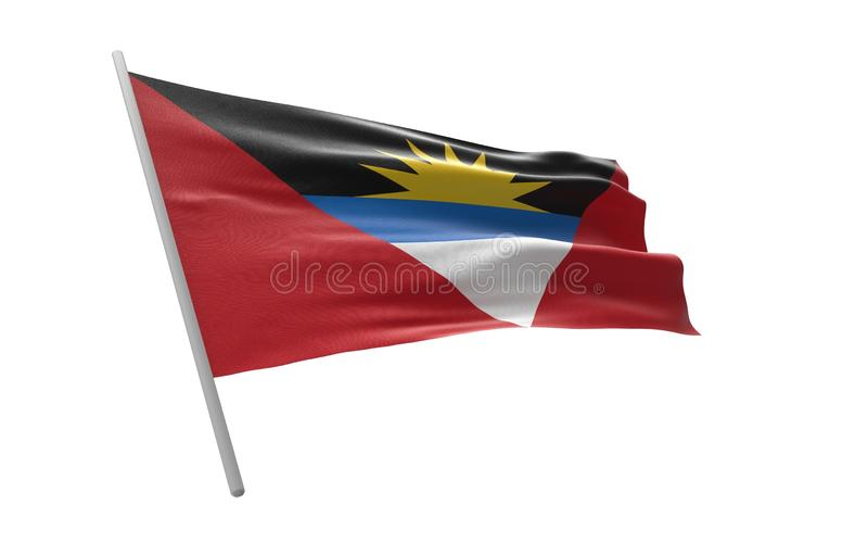 安提瓜和巴布达旗子  向量例证